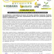 COMUNICADO DE PRENSA ANTE EL INCREMENTO DE COSTOS EN LA CADENA DE VALOR DEL BANANO